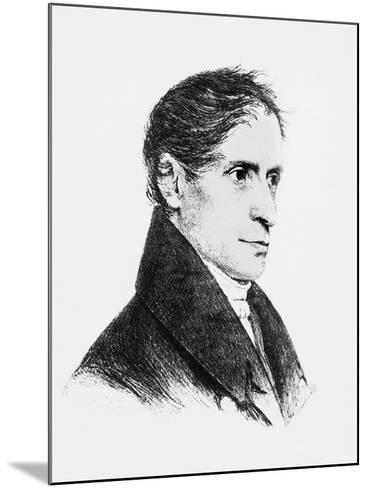 Portrait of Joseph Freiherr Von Eichendorff--Mounted Giclee Print