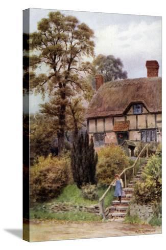 Cottage Steps, Ardington, Berkshire-Alfred Robert Quinton-Stretched Canvas Print
