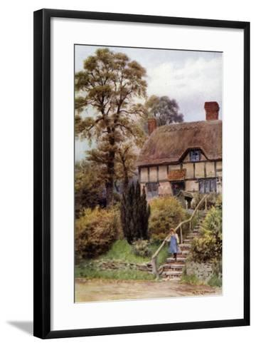 Cottage Steps, Ardington, Berkshire-Alfred Robert Quinton-Framed Art Print