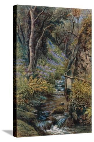 Lhen Coan, Groudle Glen, I of Man-Alfred Robert Quinton-Stretched Canvas Print