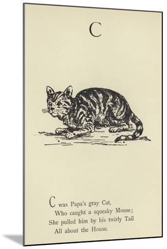 The Letter C-Edward Lear-Mounted Giclee Print