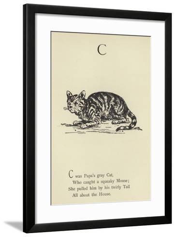 The Letter C-Edward Lear-Framed Art Print