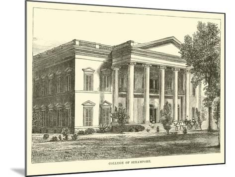 College of Serampore--Mounted Giclee Print