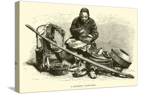 A Japanese Shoemaker--Stretched Canvas Print