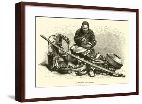 A Japanese Shoemaker--Framed Art Print