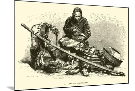 A Japanese Shoemaker--Mounted Giclee Print