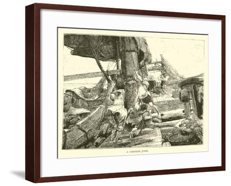 A Chinese Junk--Framed Art Print