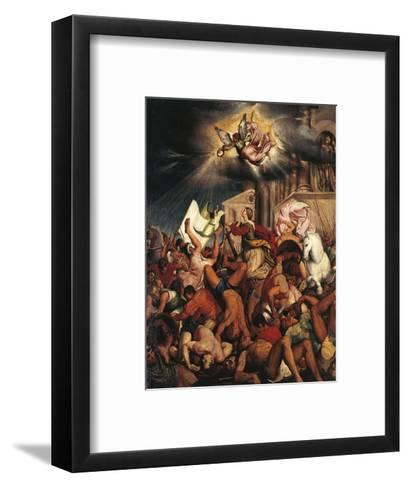 Martyrdom of Saint Catherine-Jacopo Bassano-Framed Art Print