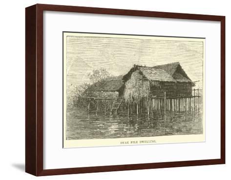 Dyak Pile Dwelling--Framed Art Print