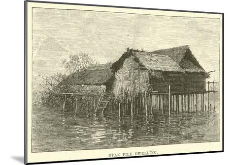 Dyak Pile Dwelling--Mounted Giclee Print