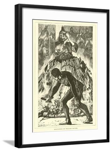 Martyrdom of William Sautre--Framed Art Print