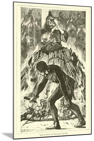 Martyrdom of William Sautre--Mounted Giclee Print
