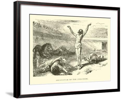 Persecution of the Christians--Framed Art Print