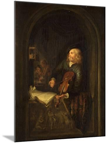 Man with a Violin-Gerrit or Gerard Dou-Mounted Giclee Print