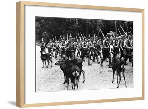 Japanese Troops Marching, C.1920-40--Framed Art Print