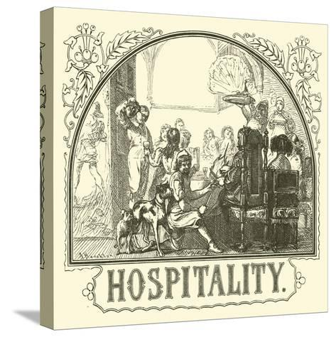 Hospitality--Stretched Canvas Print