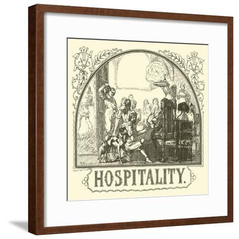 Hospitality--Framed Art Print