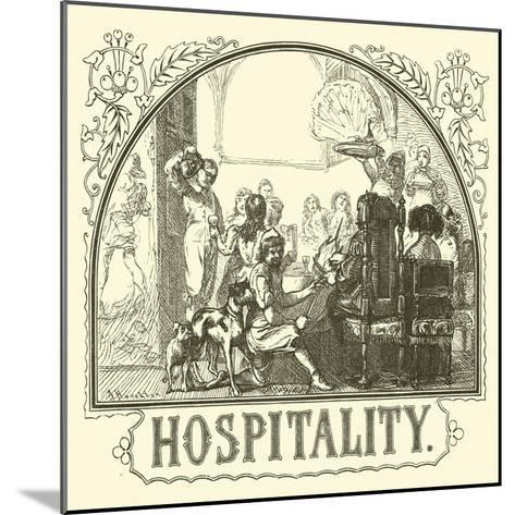 Hospitality--Mounted Giclee Print
