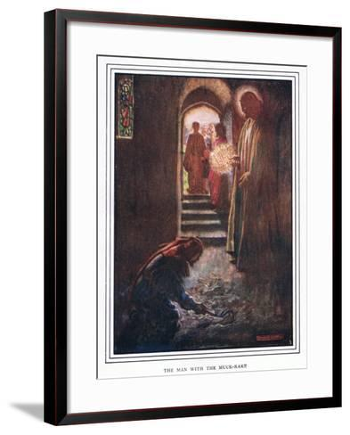 The Man with the Muck Rake-John Byam Liston Shaw-Framed Art Print