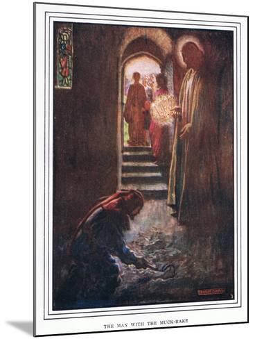 The Man with the Muck Rake-John Byam Liston Shaw-Mounted Giclee Print