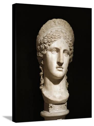 Roman Civilization, Marble Head of Hera Ludovisi--Stretched Canvas Print