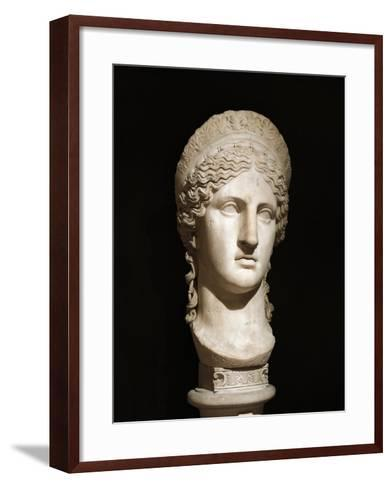 Roman Civilization, Marble Head of Hera Ludovisi--Framed Art Print