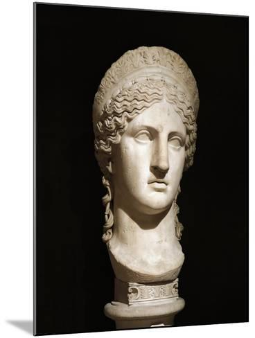 Roman Civilization, Marble Head of Hera Ludovisi--Mounted Giclee Print