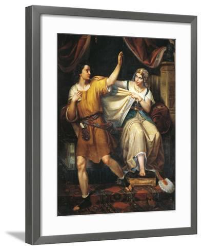 Joseph and Potiphar's Wife, 1852-Juan Urruchi-Framed Art Print