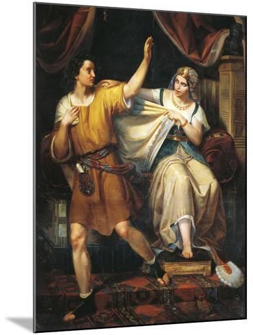 Joseph and Potiphar's Wife, 1852-Juan Urruchi-Mounted Giclee Print