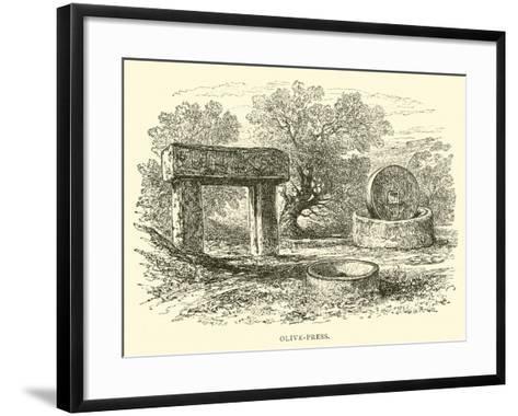 Olive-Press--Framed Art Print