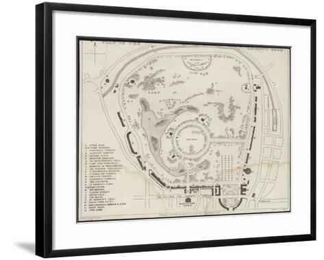Map of Regent's Park-Thomas Hosmer Shepherd-Framed Art Print