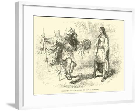 Medicine Men Deriding an Indian Convert--Framed Art Print