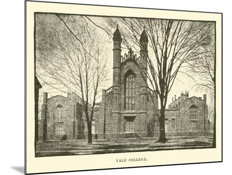 Yale College--Mounted Giclee Print