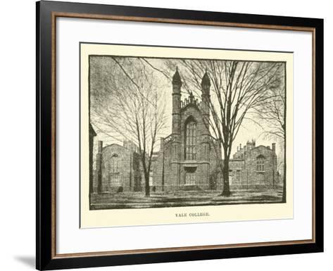 Yale College--Framed Art Print