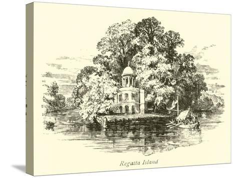 Regatta Island--Stretched Canvas Print