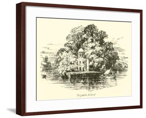 Regatta Island--Framed Art Print