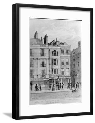 Old Entrance to the Crown and Anchor Tavern,1851--Framed Art Print
