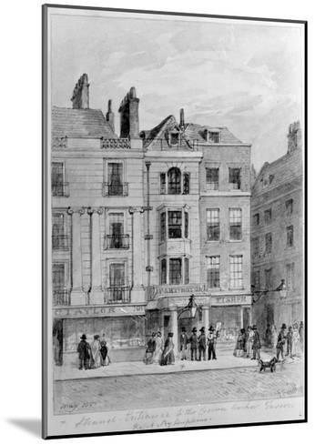 Old Entrance to the Crown and Anchor Tavern,1851--Mounted Giclee Print