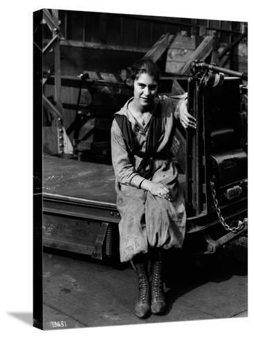 Julia Capella, Industrial Truck Operator, 1919--Stretched Canvas Print