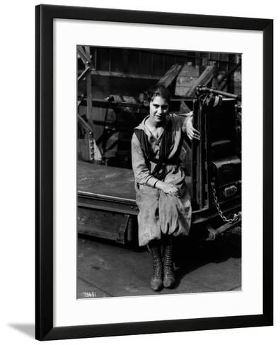 Julia Capella, Industrial Truck Operator, 1919--Framed Art Print