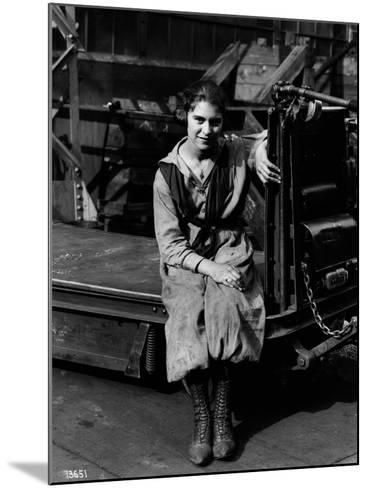Julia Capella, Industrial Truck Operator, 1919--Mounted Photographic Print