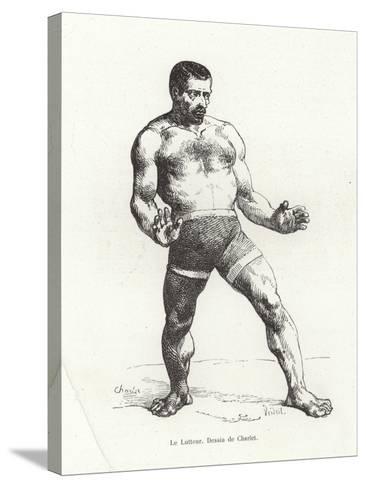 Wrestler--Stretched Canvas Print