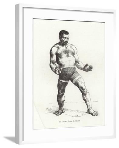 Wrestler--Framed Art Print