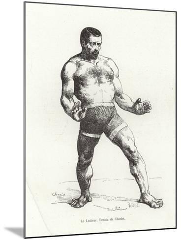 Wrestler--Mounted Giclee Print