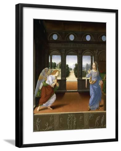 Annunciation, C.1480-Lorenzo di Credi-Framed Art Print