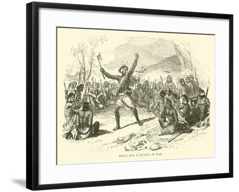 Hongi and a Council of War--Framed Art Print