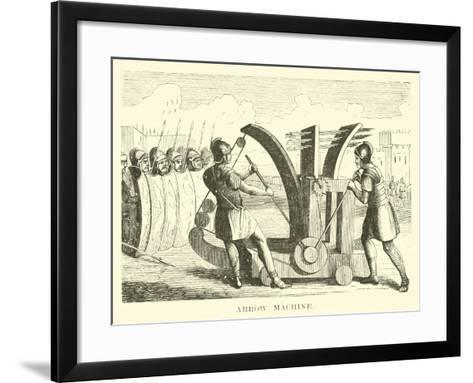 Arrow Machine--Framed Art Print