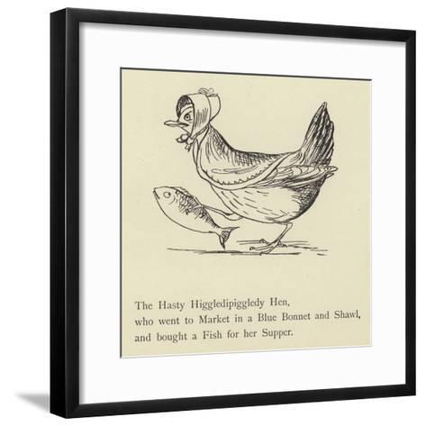 The Hasty Higgledipiggledy Hen-Edward Lear-Framed Art Print