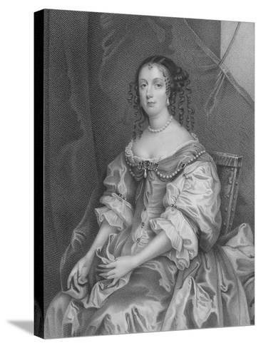 Catherine of Braganza-Sir Peter Lely-Stretched Canvas Print