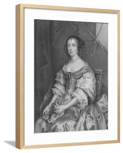 Catherine of Braganza-Sir Peter Lely-Framed Art Print